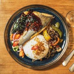 Rijst gerecht vis vers dinner diner Bonnefooi Roosendaal