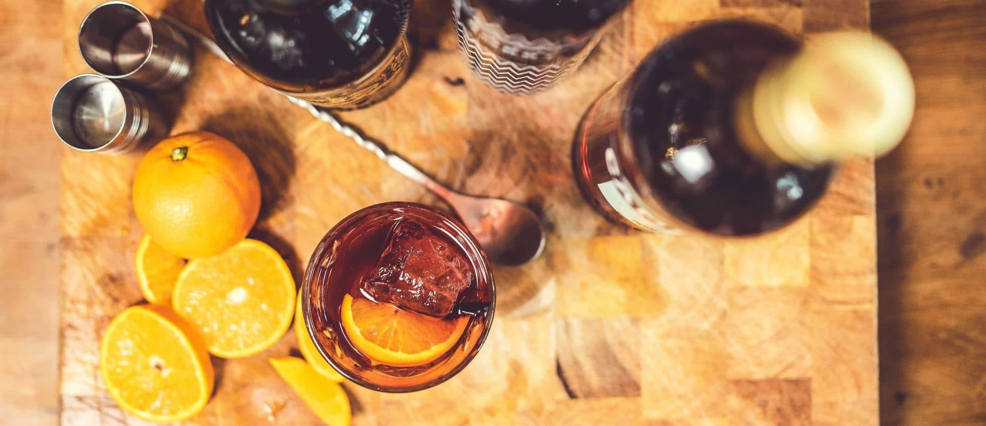 Drank drinken sinasappel cocktail mix Bonnefooi Roosendaal